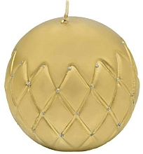 Парфюмерия и Козметика Декоративна свещ, топка, златиста, 12 см - Artman Florence