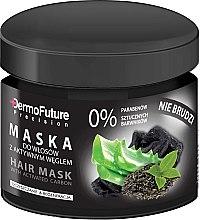 Парфюмерия и Козметика Маска за коса с активен въглен - DermoFuture Hair Mask With Activated Carbon