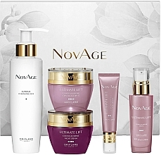 Комплект за лице - Oriflame NovAge Ultimate Lift Contour Define (дневен крем/50ml+изм. гел/150ml+околоочен крем/15ml+серум/30ml+нощен крем/50ml) — снимка N1