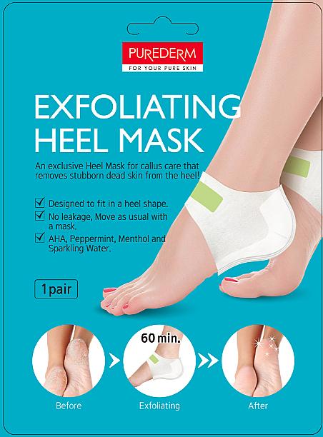 Пилинг маска за пети - Purederm Exfolaiting Heel Mask