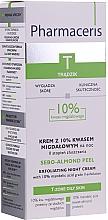 Парфюмерия и Козметика Нощен крем-пилинг с 10% бадемова киселина - Pharmaceris T Sebo-Almond-Peel Exfoliting Night Cream