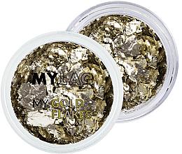 Парфюмерия и Козметика Златна декорация за маникюр - MylaQ My Gold Flakes