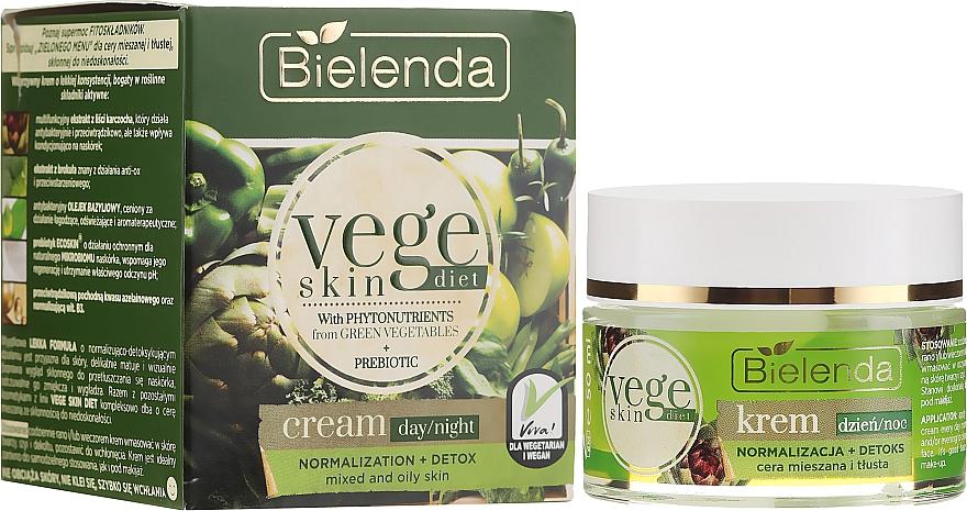 Крем за лице за комбинирана и мазна кожа - Bielenda Vege Skin Diet