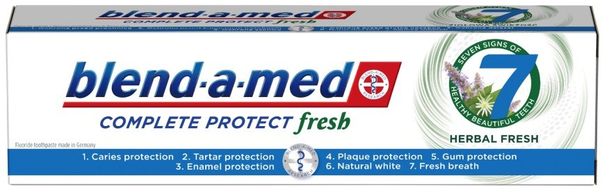 """Паста за зъби """"Билки"""" - Blend-a-Med Complete Protect Fresh 7 Herbal Fresh Toothpaste"""