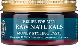 Парфюмерия и Козметика Паста за оформяне на коса - Recipe For Men RAW Naturals Money Styling Paste