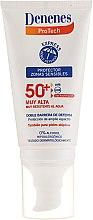 Парфюмерия и Козметика Слънцезащитен крем за чувствителна кожа - Denenes Sun Protective Cream SPF50+
