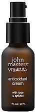 """Парфюмерия и Козметика Антиоксидантен крем за лице """"Роза и кайсия"""" - John Masters Organics Antioxidant Cream With Rose & Apricot"""
