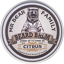Парфюми, Парфюмерия, козметика Балсам за брадата - Mr. Bear Family Beard Balm Citrus