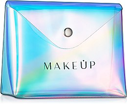 """Парфюми, Парфюмерия, козметика Прозрачен козметичен несесер """"Holographic"""", 16x13x6см - MakeUp"""