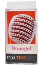 Четка за коса 1223, бяло с оранжево - Donegal Miss Tiny Hair Brush — снимка N3