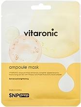Парфюмерия и Козметика Озаряваща памучна маска за лице - SNP Prep Vitaronic Ampoule Mask