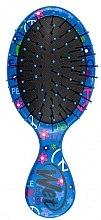 Парфюми, Парфюмерия, козметика Компактна четка за коса с принт, светло синя - Wet Brush Squirt Happy Hair