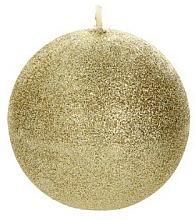 Парфюмерия и Козметика Декоративна свещ, топка, златиста, 8 см - Artman Glamour