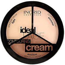 Парфюмерия и Козметика Контурираща палитра за лице - Ingrid Cosmetics Ideal Face Countouring Cream