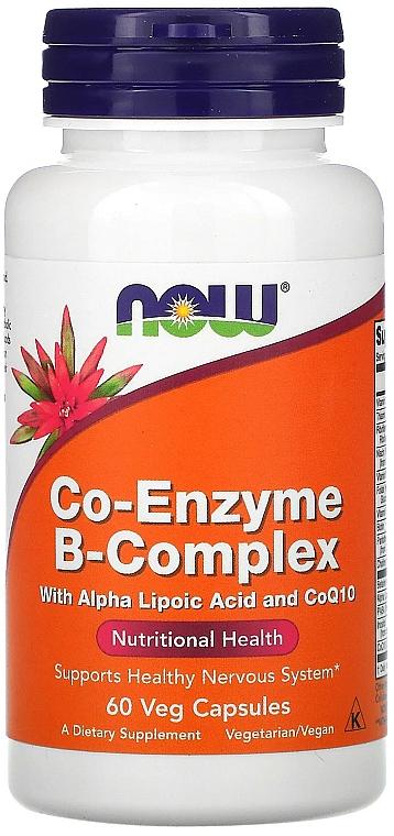"""Хранителна добавка """"Коензим и B-комплекс"""", на капсули - Now Foods Co-Enzyme B-Complex — снимка N1"""