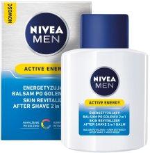 """Парфюми, Парфюмерия, козметика Балсам за след бръснене с двойно действие """"Енергиен заряд"""" - Nivea For Men Active Energy Skin Revitalizer After Shave Balm"""