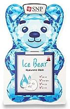 Парфюмерия и Козметика Памучна маска за лице с хиалуронова киселина - SNP Ice Bear Hyaluronic Mask