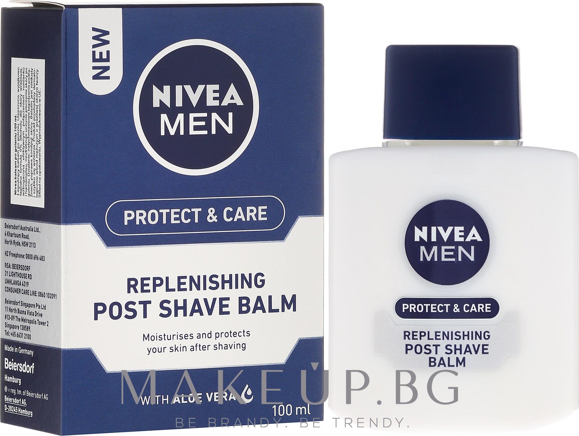 Възстановяващ балсам за след бръснене - Nivea For Men Replenishing After Shaving Balm — снимка 100 ml