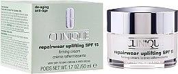 Парфюми, Парфюмерия, козметика Интензивно възстановяващ дневен крем за суха кожа - Clinique Repairwear Uplifting Firming Cream SPF 15