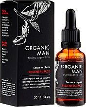 Парфюмерия и Козметика Възстановяващ течен серум за лице за мъже - Organic Life Dermocosmetics Man