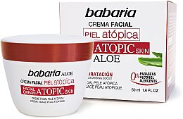 Парфюми, Парфюмерия, козметика Крем за лице с алое вера - Babaria Atopic Face Cream