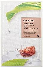 Парфюмерия и Козметика Маска за лице от плат с екстракт от охлюв - Mizon Joyful Time Essence Mask Snail
