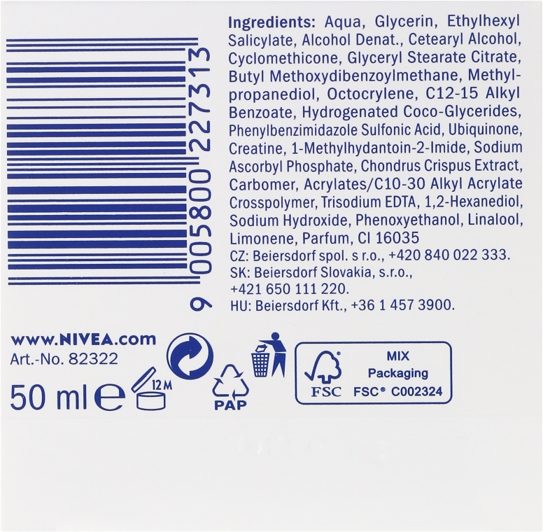 Крем против бръчки - Nivea Q10 Plus Energizing Anti-Wrinkle Day Cream SPF15 — снимка N3