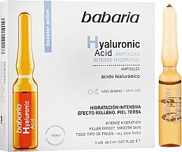 Парфюмерия и Козметика Хидратиращи ампули за лице с хиалуронова киселина - Babaria Hyaluronic Acid Ampoule