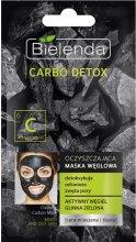 Парфюми, Парфюмерия, козметика Почистваща маска с активине въглен за комбинирана кожа - Bielenda Carbo Detox Cleansing Mask Mixed and Oily Skin