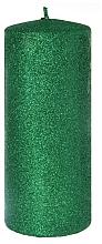 Парфюмерия и Козметика Декоративна свещ, зелена, 7x18 см - Artman Glamour