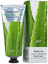 Парфюмерия и Козметика Крем за ръце с алое - Farmstay Visible Difference Hand Cream Aloe