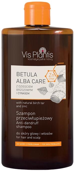 Шампоан с брезов катран и цинк - Vis Plantis Betula Alba Care Anti-Dandruff Shampoo