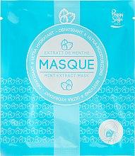 Парфюми, Парфюмерия, козметика Овлажняваща и регенерираща памучна маска за лице с мента - Peggy Sage Ultra-moisturizing Mask