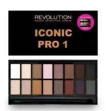 Парфюми, Парфюмерия, козметика Палитра сенки за очи, 16 цвята - Makeup Revolution Salvation Eyeshadow Palette Iconic Pro 1