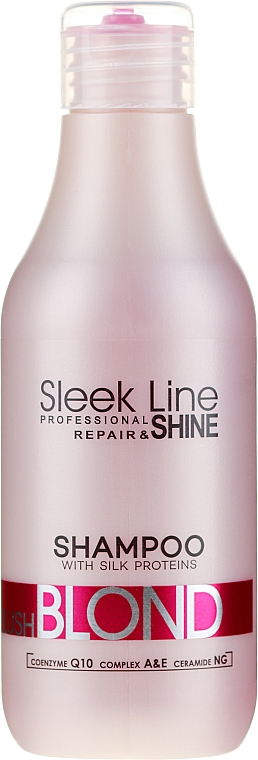 Шампоан за руса коса с розов нюанс - Stapiz Sleek Line Blush Blond Shampoo