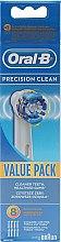 Парфюмерия и Козметика Комплект сменяеми глави за електрическа четка за зъби, 8 бр - Oral-B EB20 Precision clean