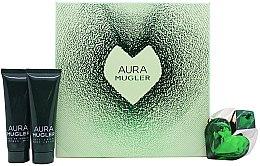 Парфюми, Парфюмерия, козметика Mugler Aura Mugler - Комплект (парф. вода/30ml + лосион за тяло/50ml + душ гел/50ml)