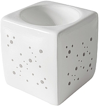 Парфюмерия и Козметика Арома лампа квадратна, бяла - Flagolie By Paese Cube Fireplace White