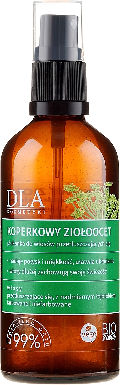 Спрей за мазна коса с екстракт от билки и копър - DLA