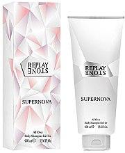 Парфюми, Парфюмерия, козметика Replay Stone Supernova For Her Body Shampoo - Душ гел