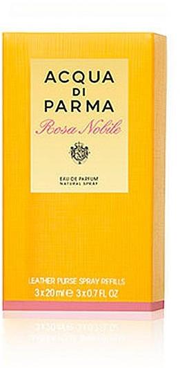 Acqua Di Parma Rosa Nobile Leather Purse Spray Refills - Комплект ( edp/20ml + edp/20ml+edp/20ml) — снимка N1