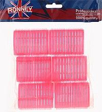 Парфюмерия и Козметика Велкро ролки за коса 44/63, розови - Ronney Professional Velcro Roller