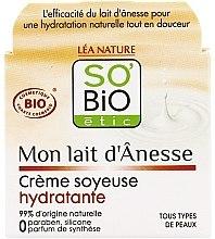 Парфюмерия и Козметика Овлажняващ крем с магарешко мляко - So'Bio Etic Mon Lait d'Anesse Silky Moisturizing Cream