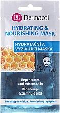 Парфюми, Парфюмерия, козметика Маска за лице от плат - Dermacol 3D Hydrating And Nourishing Mask