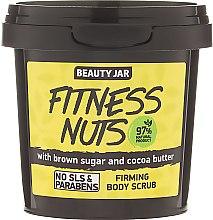 """Парфюми, Парфюмерия, козметика Стягащ скраб за тяло с кафява захар и какаово масло """"Fitness Nuts"""" - Beauty Jar Firming Body Scrub"""