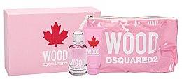 Парфюмерия и Козметика Dsquared2 Wood Pour Femme - Комплект (тоал. вода/100ml + душ гел/100ml + козм. чанта)