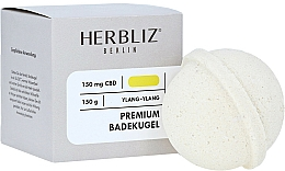Парфюмерия и Козметика Бомбичка за вана с аромат на иланг-иланг - Herbliz CBD