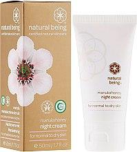 Парфюми, Парфюмерия, козметика Нощен крем за лице за нормална и суха кожа - Natural Being Manuka Honey Night Cream