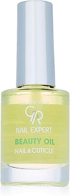 Масло за нокти и кожички - Golden Rose Nail Expert Beauty Oil Nail & Cuticle — снимка N2