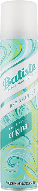 Сух шампоан с освежаващ аромат - Batiste Dry Shampoo Clean and Classic Original
